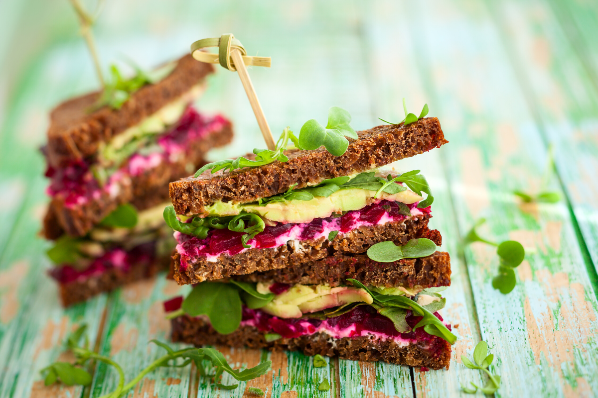Plant-Based Sandwiches with Avocado